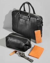 Shinola Brown Slim Briefcase for men