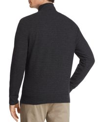 Vineyard Vines - Gray Reverse Oxford Piqué Quarter-zip Pullover for Men - Lyst