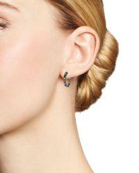 Shebee - Metallic Blackened Sterling Silver & Multicolor Sapphire Mini Oval Hoop Earrings - Lyst
