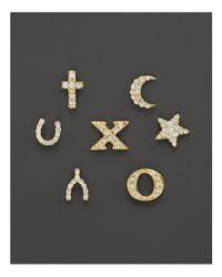 "Meira T - Metallic 14k Yellow Gold And Diamond ""x"" Single Stud Earring - Lyst"