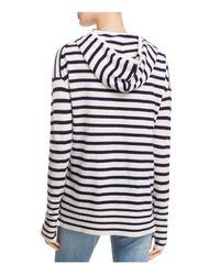 Aqua - Multicolor Cashmere Stripe Hoodie Pullover - Lyst