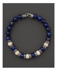 Scott Kay - Blue Bone and Lapis Beaded Bracelet for Men - Lyst