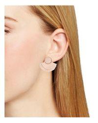 BaubleBar - Pink Martina Fan Earrings - Lyst