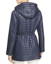 Kate Spade - Blue Bow Quilted Coat - Lyst