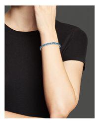 Bloomingdale's - Blue Topaz Bracelet In 14k White Gold - Lyst