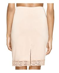 Hanky Panky - Pink Silky Lace Trim Fitted Half Slip - Lyst