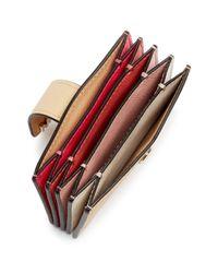 MICHAEL Michael Kors - Multicolor Michael Kors Money Pieces Embossed Leather Card Case - Lyst