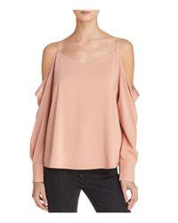 Bardot - Pink Bianca Cold-shoulder Top - Lyst
