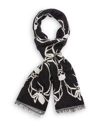 dda331cab8 The Kooples Skull - Spider Scarf in Black for Men - Lyst