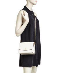 Tory Burch - Metallic Robinson Convertible Leather Shoulder Bag - Lyst