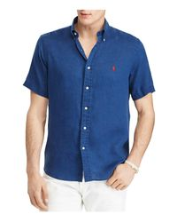 Polo Ralph Lauren - Blue Ocean-wash Classic Fit Button-down Shirt for Men - Lyst