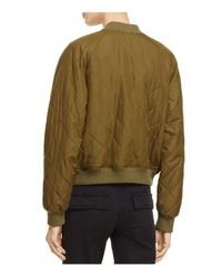 Vince | Green Quilted Bomber Jacket | Lyst
