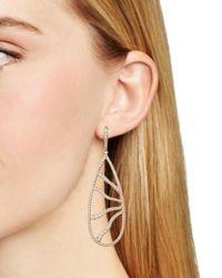 Nadri - Metallic Corsage Pavé Teardrop Drop Earrings - Lyst