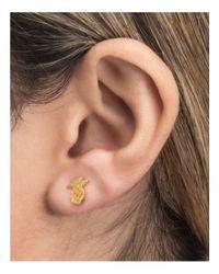 Dogeared - Metallic Pineapple Stud Earrings - Lyst
