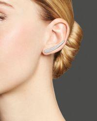 KC Designs - Diamond Wing Ear Climbers In 14k White Gold - Lyst