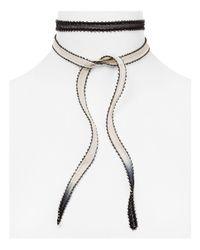 Chan Luu - Black Dip Dyed Beaded Edge Necktie - Lyst