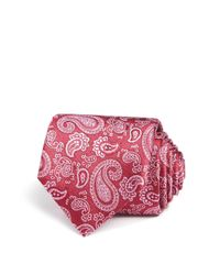 Canali | Red Large All Over Pines Classic Tie for Men | Lyst