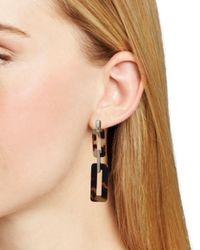 Ralph Lauren - Brown Lauren Tortoise Link Double Drop Clip-on Earrings - Lyst