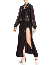Haute Hippie - Black Through The Looking Glass Embellished Silk Blouse - Lyst