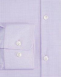 HUGO - Blue Micro Grid Regular Fit Dress Shirt for Men - Lyst