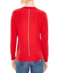 Sandro - Red Anouk Piped Sweater - Lyst
