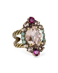 Sorrelli - Multicolor Eustoma Statement Ring - Lyst