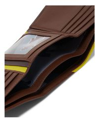 Ted Baker - Brown Vien Corner Detail Trifold Wallet for Men - Lyst