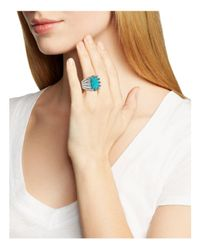 Stephen Dweck - Blue Carved Turquoise Cocktail Ring - Lyst