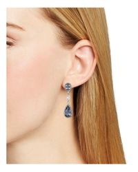 Nadri - Multicolor Framed Multi-line Drop Earrings - Lyst
