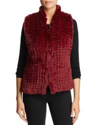 Bagatelle - Red Knit Faux-fur Vest - Lyst