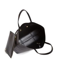 Tory Burch | Black Block-t Leather Tote | Lyst