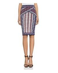 BCBGMAXAZRIA | Blue Leger Knit Skirt | Lyst