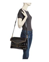 Marc Jacobs - Black Envelope Studded Leather Shoulder Bag - Lyst