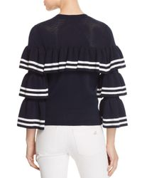 Parker - Blue Rhonda Ruffle Sweater - Lyst