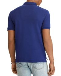 Polo Ralph Lauren - Blue Classic Fit Stretch Mesh Polo Shirt for Men - Lyst