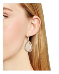 ABS By Allen Schwartz - Metallic Teardrop Earrings - Lyst
