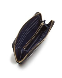 Tory Burch - Black Robinson Zip Patent Leather Continental Wallet - Lyst