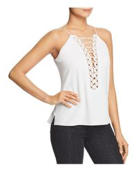 Elie Tahari - White Besiana Lace-up Cami - Lyst