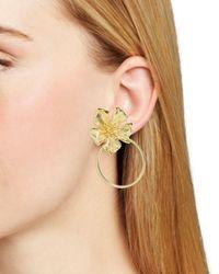 BaubleBar - Metallic Penthia Floral Loop Drop Earrings - Lyst