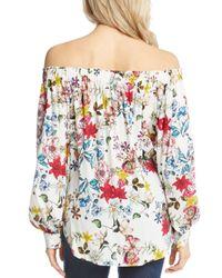 Karen Kane - Multicolor Off-the-shoulder Floral Top - Lyst