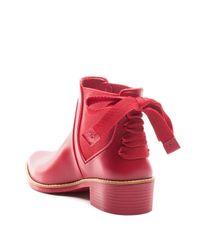 Bernardo - Red Women's Bow Rain Booties - Lyst