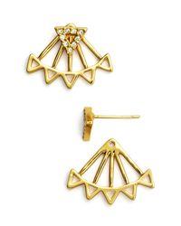 Rebecca Minkoff   Metallic Triangle Ear Jackets   Lyst