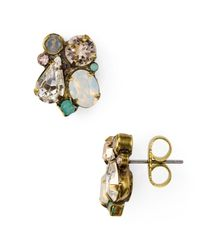 Sorrelli - Metallic Crystal Cluster Stud Earrings - Lyst