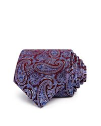 Bloomingdale's - Blue Large Paisley Pines Classic Tie for Men - Lyst