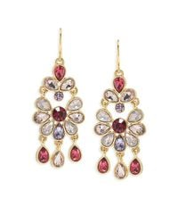 Carolee - Metallic Chandelier Earrings - Lyst