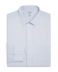 Brooks Brothers - Blue Regent Split Double Window Check Classic Fit Dress Shirt for Men - Lyst