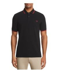 Fred Perry - Black Twin Tipped Polo - Slim Fit for Men - Lyst