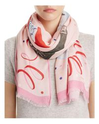 Kate Spade | Pink Champagne Oblong Scarf | Lyst