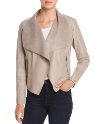 Bagatelle - Multicolor Draped Faux Leather Jacket - Lyst