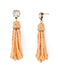 Aqua - Multicolor Beaded Fringe Drop Earrings - Lyst